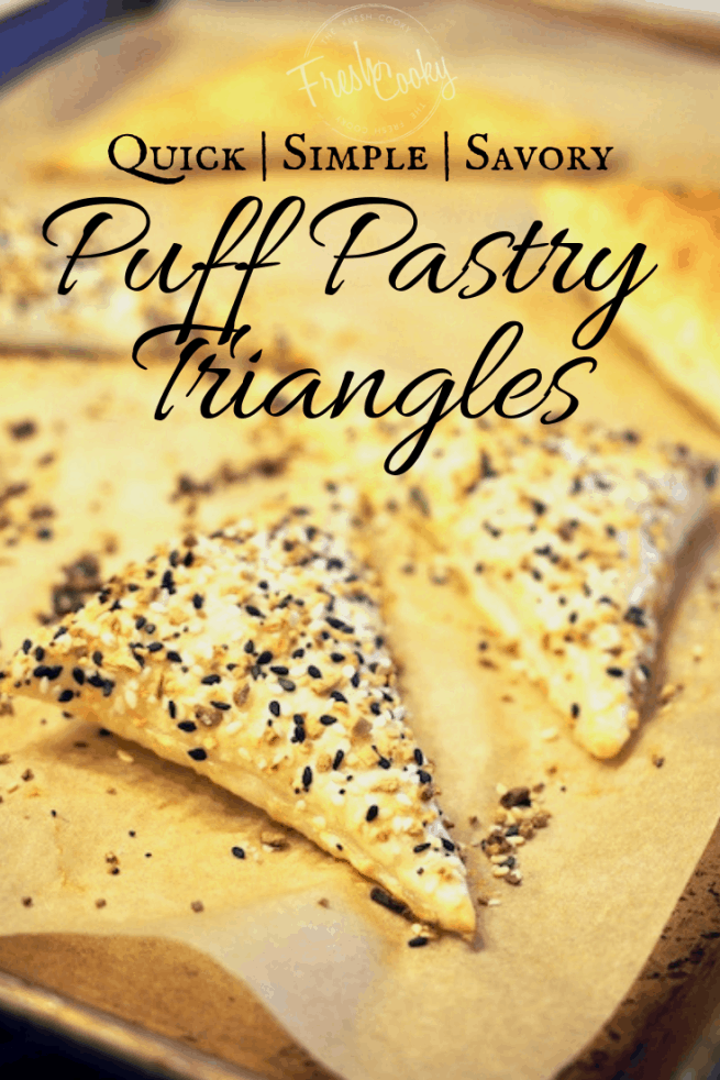 Puff Pastry Triangles | www.thefreshcooky.com