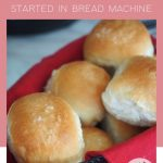 Short pin for Soft Easy Yeast rolls for beginners with image of soft fresh baked rolls in a basket.