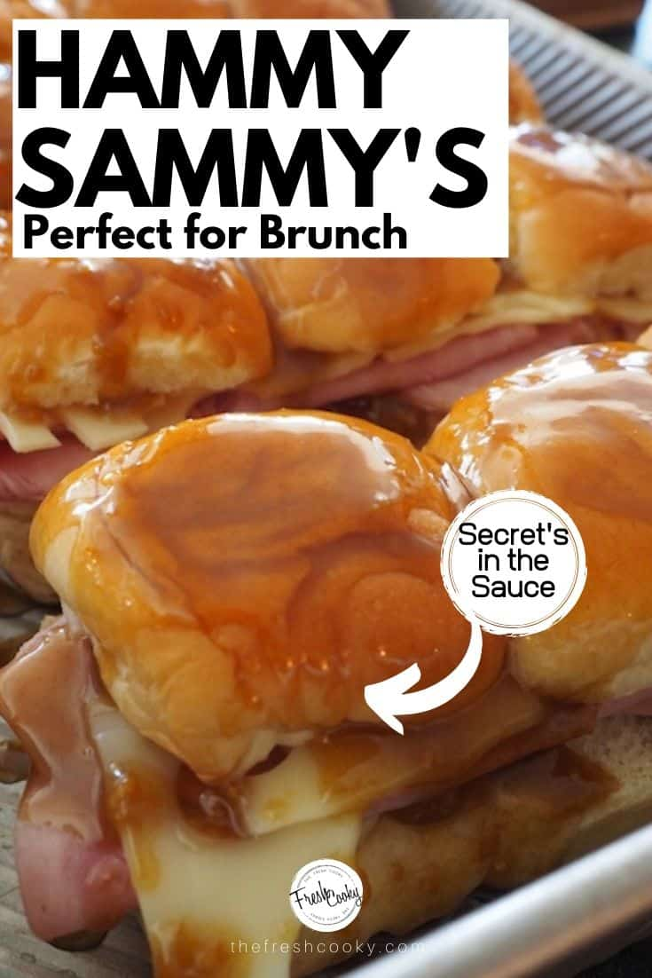 AMAZING Ham & Swiss Sliders perfect for feeding a hungry crowd! Recipe via #thefreshcooky #hamandcheese #swiss #sliders #sandwiches #crowdpleaser #makeahead #largecrowd #tailgaiting #footballfood #holidaymeals  #easter #brunch #leftoverrecipes  via @thefreshcooky