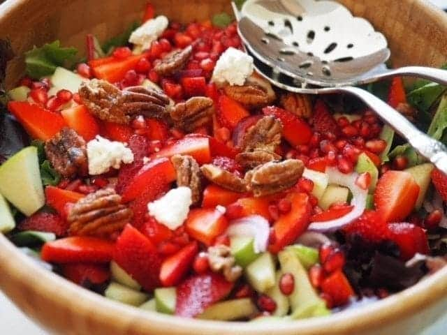 Sweet Maple Apple Pecan Salad