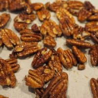 Simple, Low Sugar Candied Pecans (Nuts)