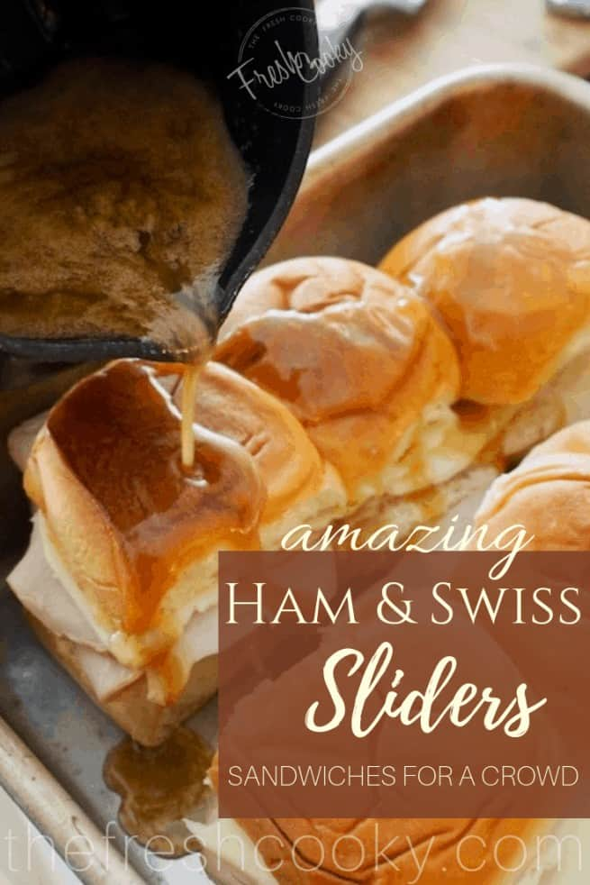 Hammy Sammy's   Ham & Swiss Sliders for a Crowd   www.thefreshcooky.com
