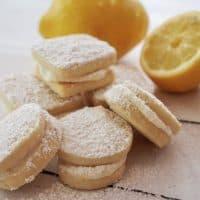 Lemon Sandwich Cookies with Lemon Cream Frosting
