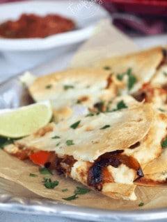 Chicken & Cheese Quesadillas | www.thefreshcooky.com