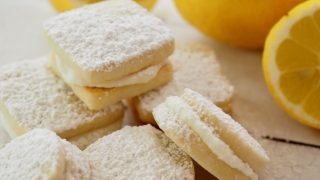 Lemon Sandwich Cookies with Lemon Cream Frosting