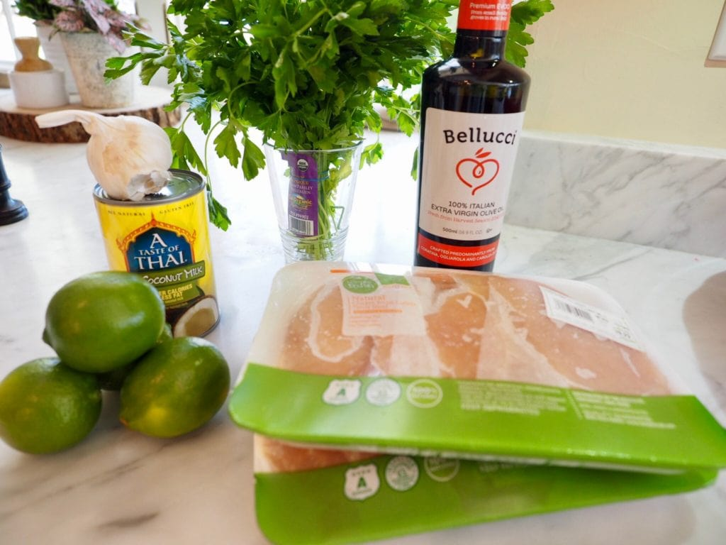 ingredients for coconut lime chicken | www.thefreshcooky.com