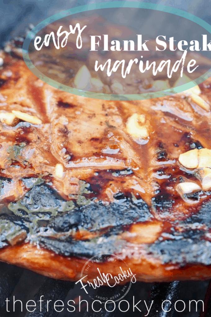 Flank Steak Marinade | www.thefreshcooky.com #flanksteak #marinade #easy #bbq