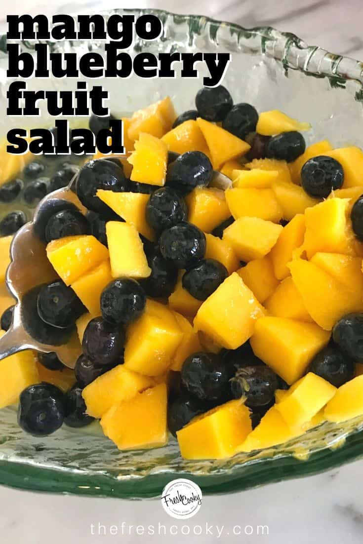 Best Ever Tropical Fruit Salad with light honey lime dressing. Beautiful recipe for Mother's Day, Easter, Summer potluck, Garden Party or luncheon. Recipe via @thefreshcooky | #fruitsalad #vegan #recipes #quickrecipes #gourmet #tropical via @thefreshcooky