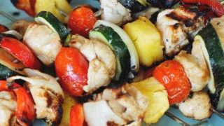 Summertime Shish Kebabs {Beef or Chicken Marinade}