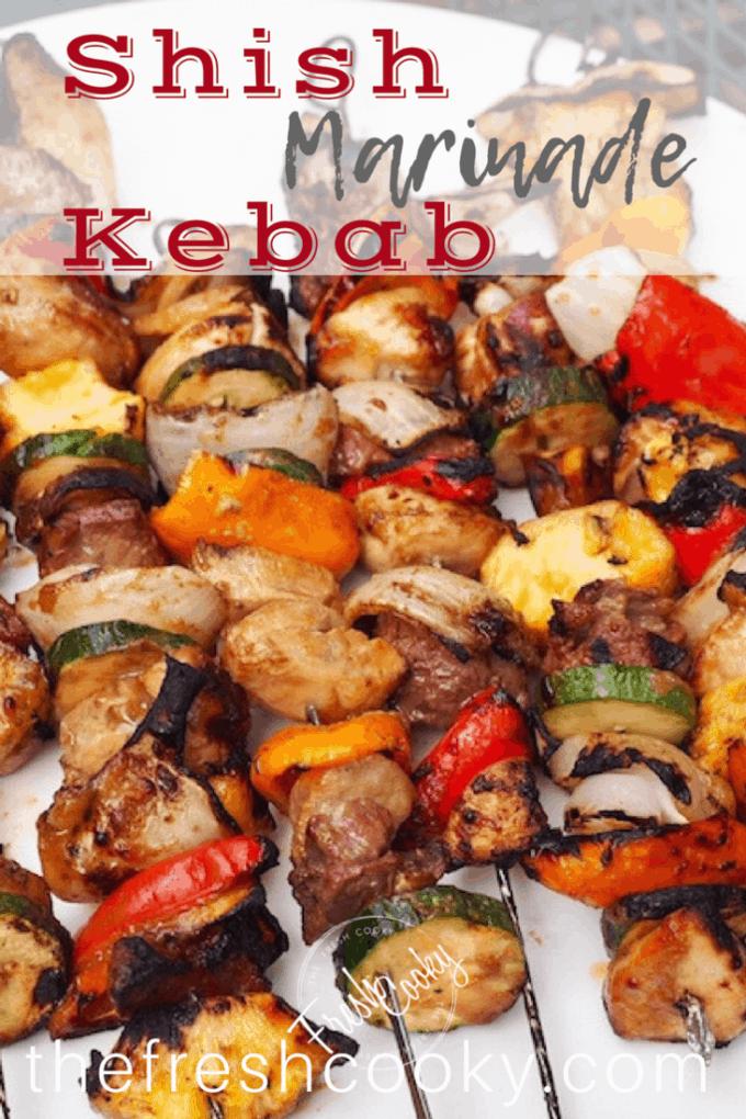 Shish Kebab Marinade | www.thefreshcooky.com #shishkebabs #kabobs #kebabs #grill #fathersday #bbq