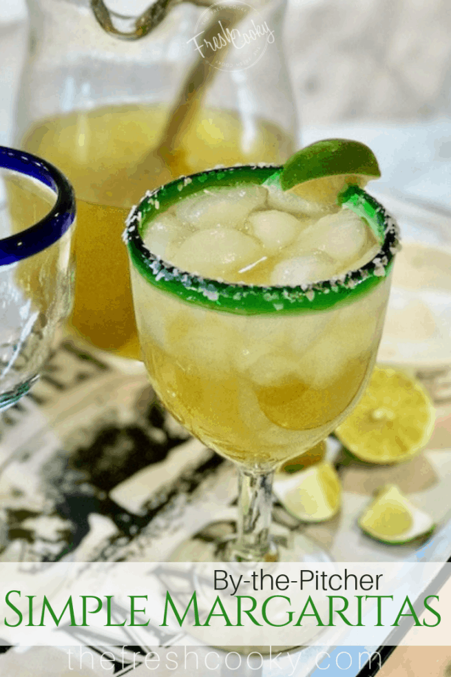 Simple 4 Ingredient Margarita in a glass | www.thefreshcooky.com