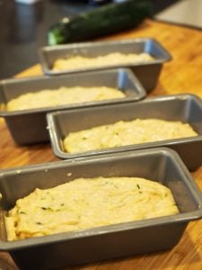 zucchini bread batter in mini loaf pans | www.thefreshcooky.com