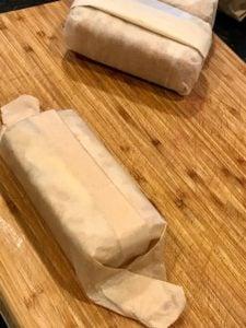 Folded parchment on Zucchini loaf | www.thefreshcooky.com