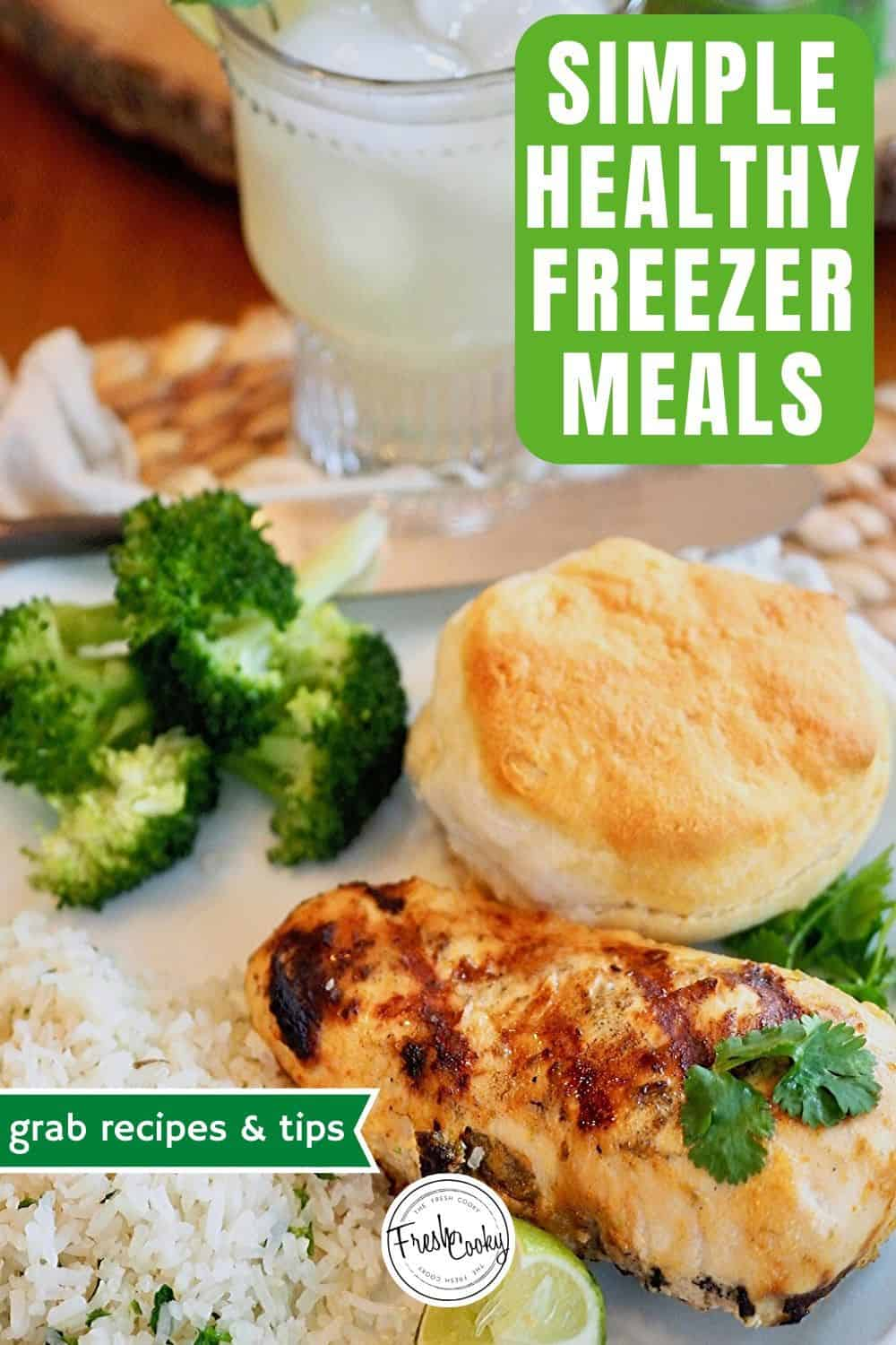 Delicious HEALTHY and EASY FREEZER MEALS! Prep 10 meals in less than a couple hours. Great for busy weeknights, when you don't want to worry about dinner. Recipes #thefreshcooky | #freezermeals #healthy #easy #whole30 #pantrystaples via @thefreshcooky