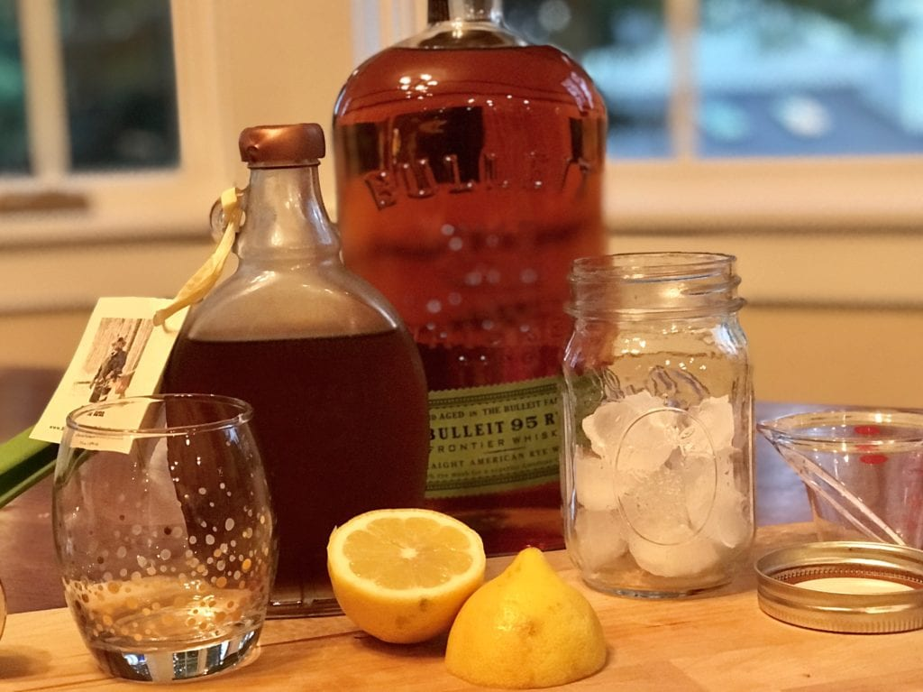 How to make a Maple Whiskey Sour, this recipe from thefreshcooky.com is balanced beautifully with bright tart citrus and sweet, earthy maple syrup. #whiskeysour #homemade #3ingredient #cocktail #whiskey #maplesyrup #citrus #falldrinks #fallcocktails