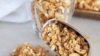 Basic Crock Pot Soft Granola with Yogurt Parfaits
