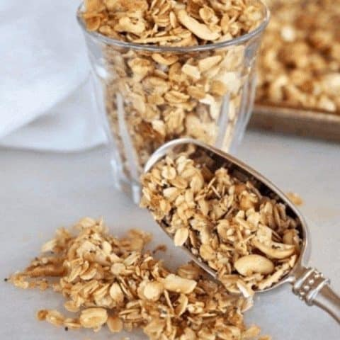 All natural soft baked crockpot granola | www.thefreshcooky.com