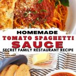 Homemade Italian Spaghetti Sauce Recipe
