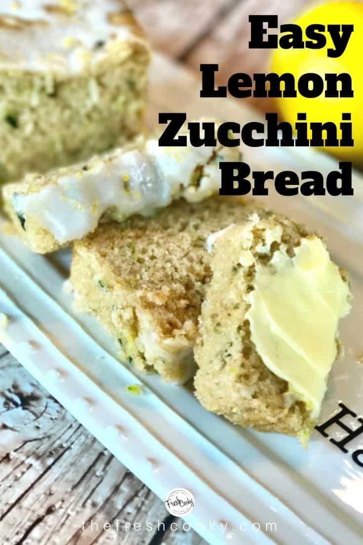 A must make during zucchini season! Lemon Zucchini quickbread is a moist and delicious breakfast or brunch bread. Recipe via @thefreshcooky | #lemon #zucchinibread #quickbread #neighborgifts #lemonrecipe #zucchinirecipe #highaltitude #brunchrecipes  via @thefreshcooky