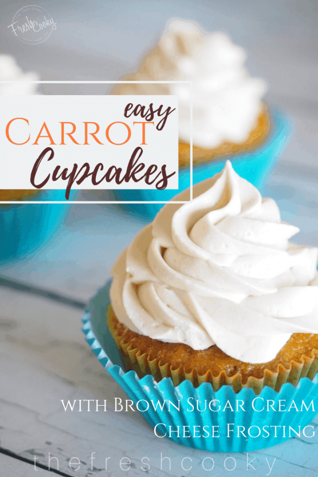Easy Carrot Cupcakes | www.thefreshcooky.com