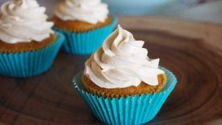Carrot Cupcakes with Brown Sugar Cream Cheese Frosting