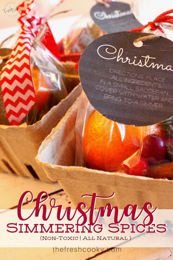 Pinterest Image for Christmas Simmering Spices
