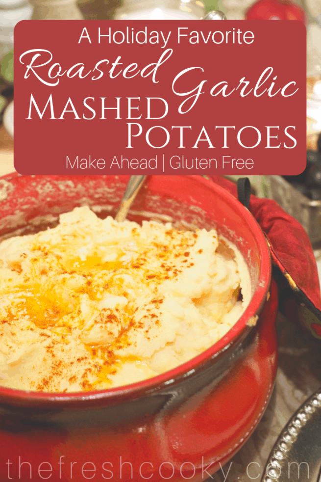 Roasted Garlic Mashed Potatoes | www.thefreshcooky.com