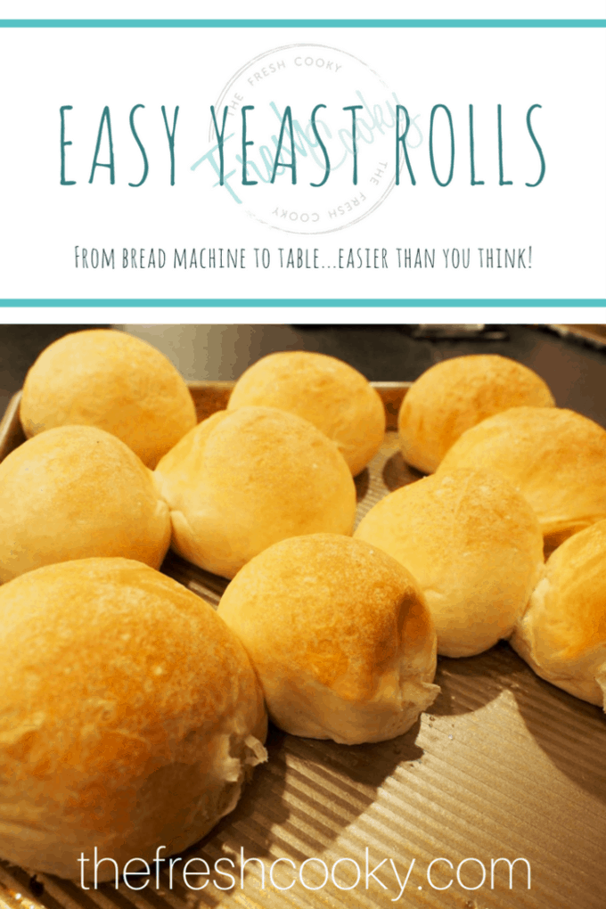 Make these delicious, fluffy and light yeast rolls the day before the holiday. They are quick to come together and are delicious warm with butter. Perfect to accompany any holiday meal. #thefreshcooky #rolls #yeastrolls #easy #makeahead #breadmachine #holidaymealplan #thanksgiving #christmas #holidaysides #sidedish