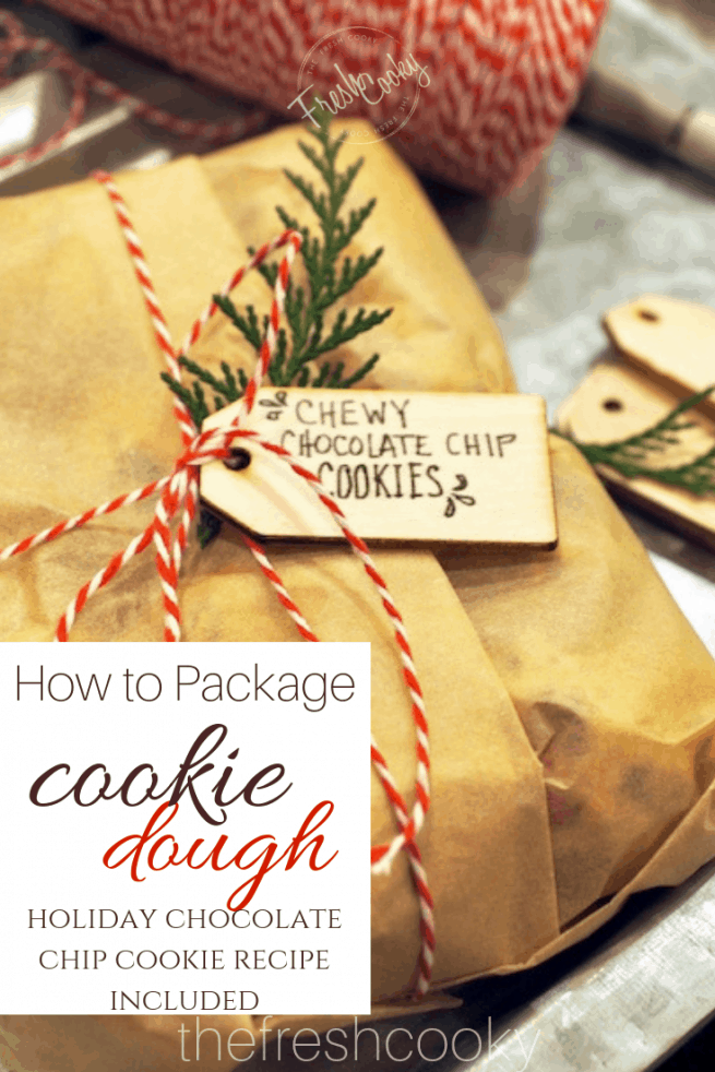 How to Package Cookie Dough for Gifts | www.thefreshcooky.com
