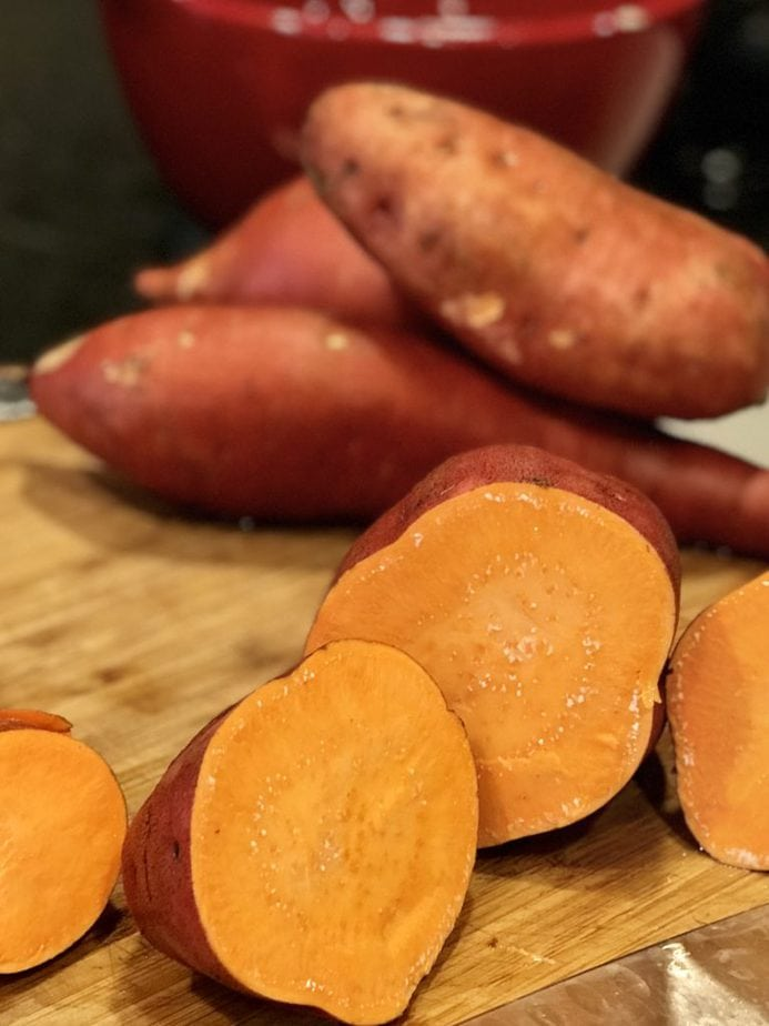 Cut yams | Thanksgiving Praline Yams