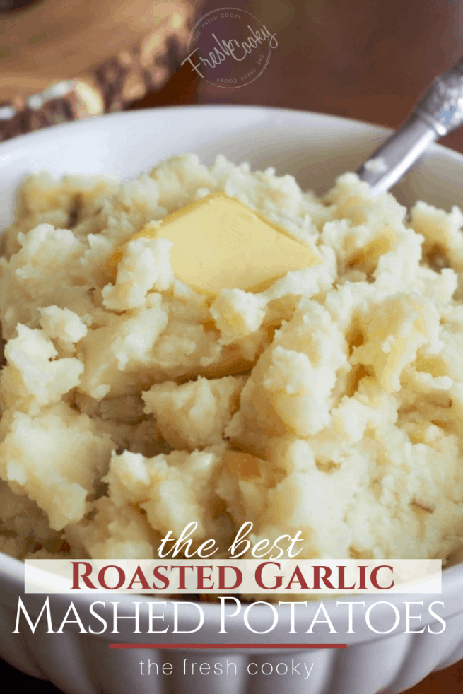 Roasted Garlic Mashed Potatos | www.thefreshcooky.com