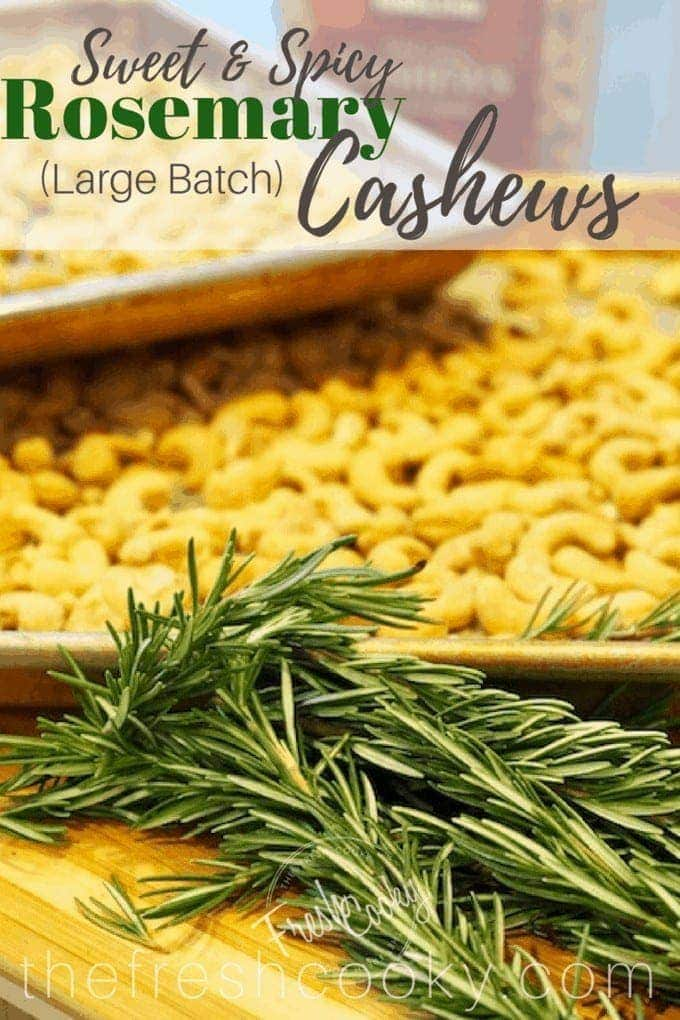 Easy Rosemary Cashews
