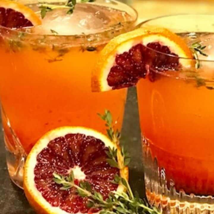 Blood Orange, Tangerine, Thyme Gin & Tonic