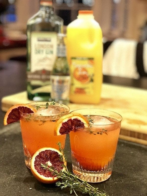 Blood Orange Tangerine Thyme Gin & Tonic