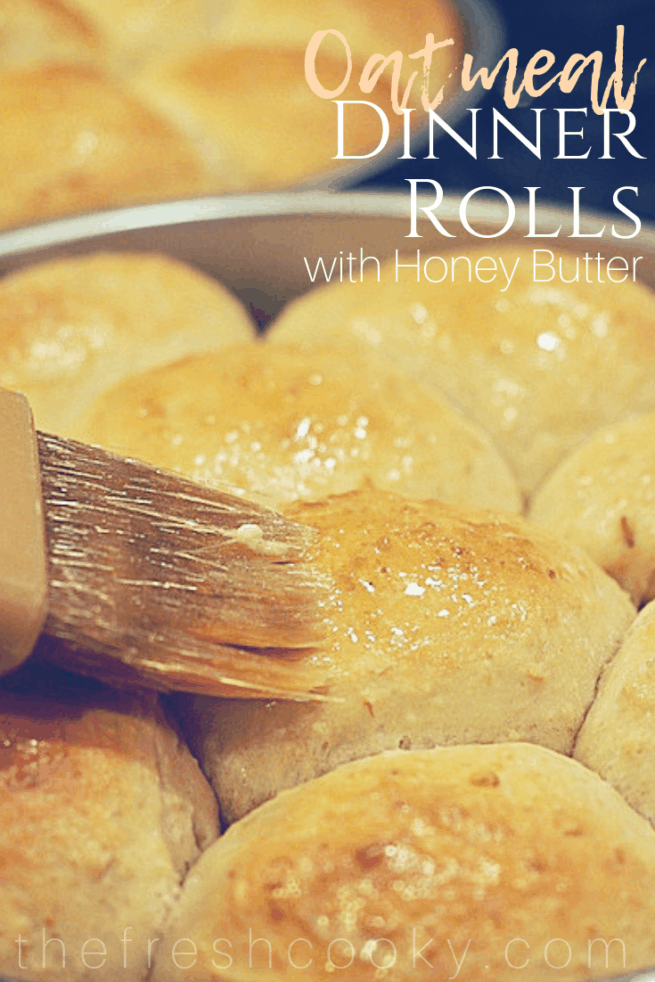 Try these for dinner tonight, super soft, multi-grain, Oatmeal Dinner rolls. Chewy, tender, soft, delicious! #thefreshcooky #oatmeal #dinnerrolls #rolls #fallrecipes