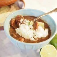 Black Bean and Sausage Soup (Vegetarian Option)