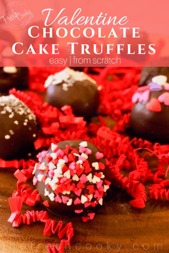 Valentines Cake Pop Truffles |www.thefreshcooky.com