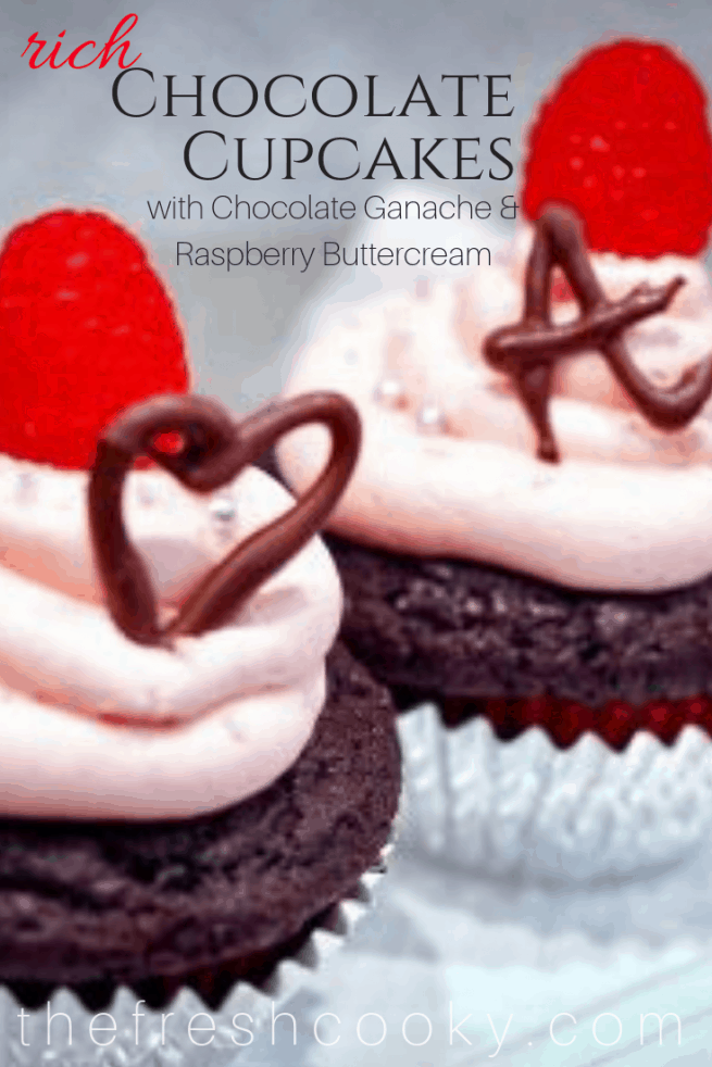 Rich Chocolate Cupcakes with Fresh Raspberry Buttercream | www.thefreshcooky.com