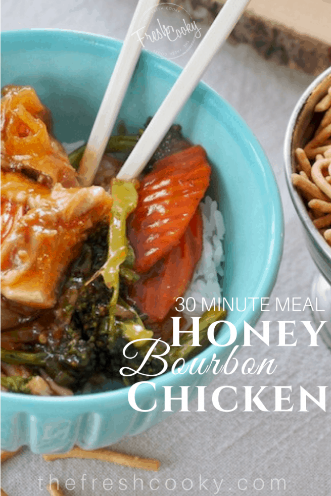 Honey Bourbon Chicken | www.thefreshcooky.com