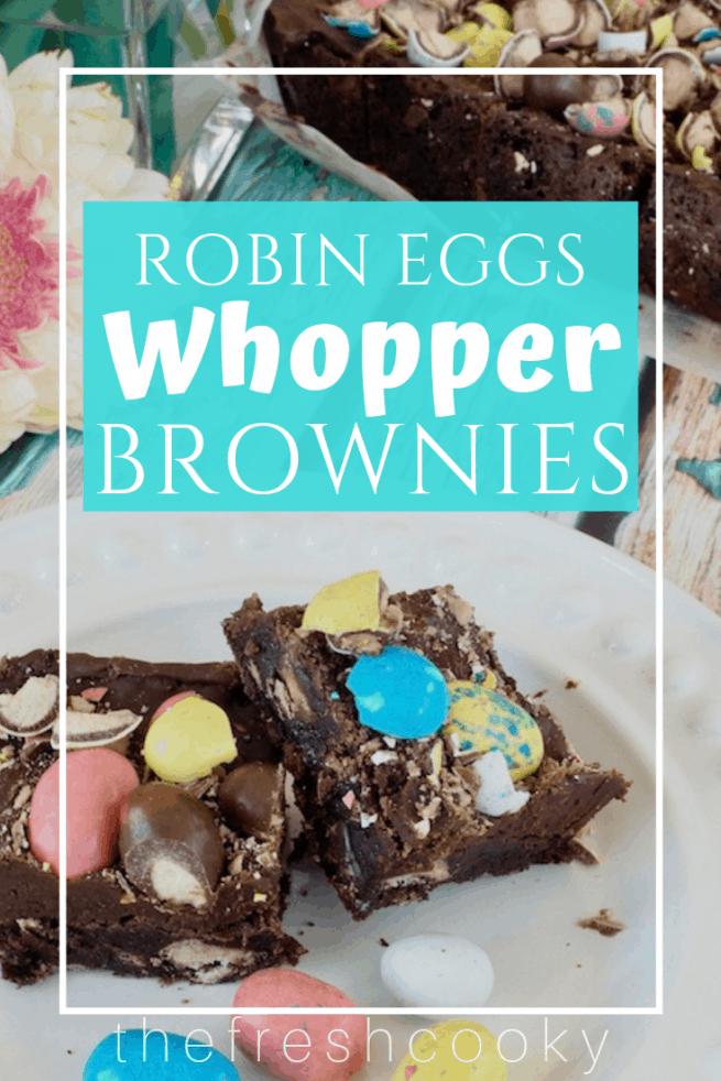 Robin Eggs Whopper Brownies   www.thefreshcooky.com