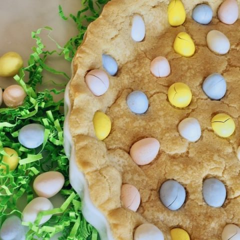 Giant Easter Sugar Cookie Cake