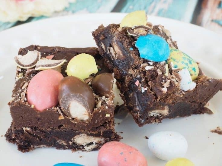Robin Egg Whopper Brownies