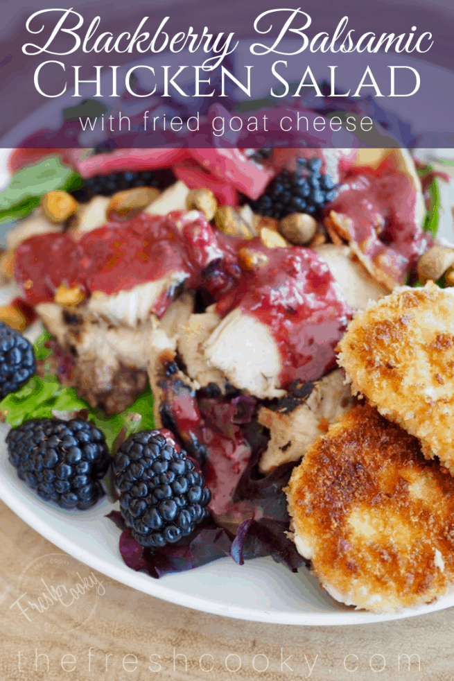 Blackberry Chicken Salad with Fried Goat Cheese | www.thefreshcooky.com