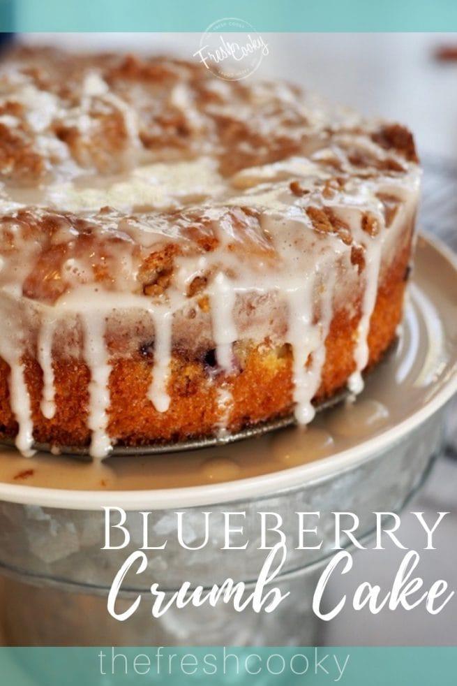 Blueberry Crumb Cake | www.thefreshcooky.com