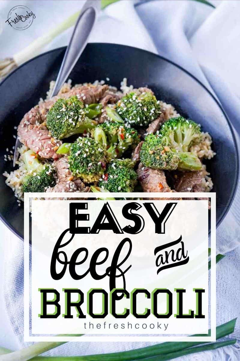 Better than takeout, this healthy and easy beef and broccoli is perfect for busy weeknights. Recipe via @thefreshcooky | #beef #broccoli #copycat #easyrecipes #best #takeout  via @thefreshcooky