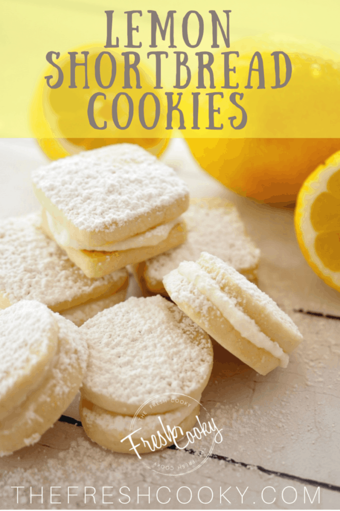 Lemon Shortbread Sandwich Cookies | www.thefreshcooky.com #lemon #shortbread #sandwichcookie