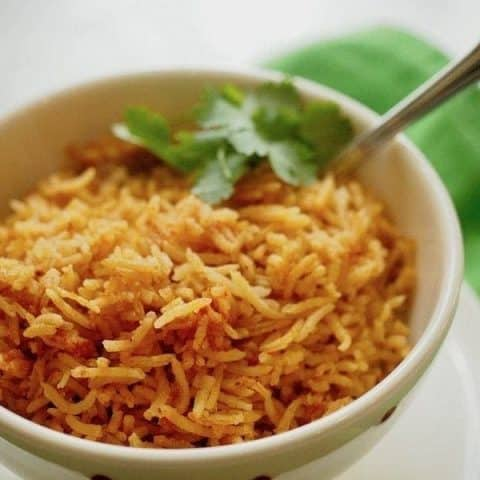Spanish/Mexican Rice | www.thefreshcooky.com #mexicanrice #spanishrice #mexican #rice