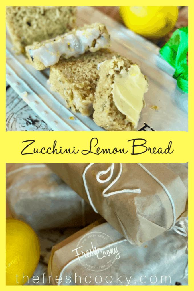 Lemon Zucchini Bread   www.thefreshcooky.com #zucchinibread #lemonbread #lemonglaze #makeahead #mothersday #teabread