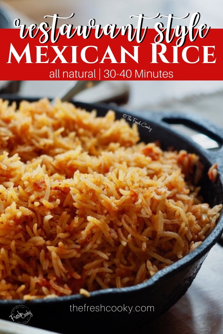 Pan of Mexican Rice | www.thefreshcooky.com