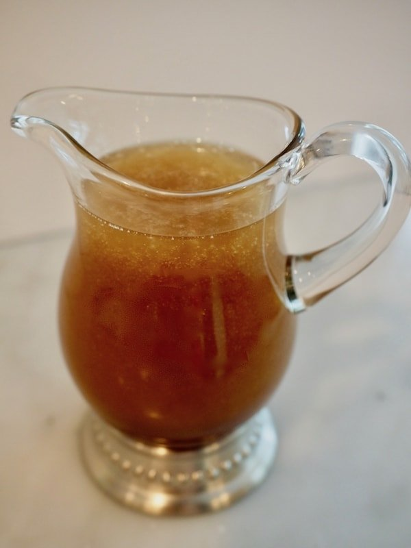 Small pitcher filled with all natural asian dressing | thefreshcooky.com
